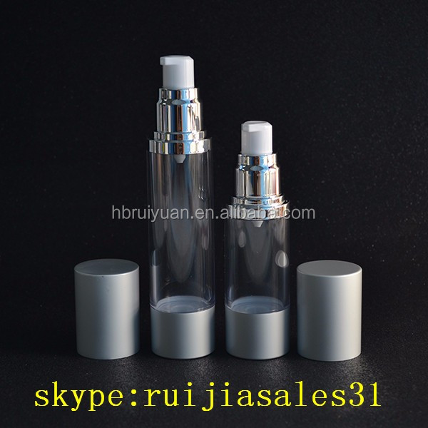Free sample 15ml 30ml 50ml acrylic cosmetic airless pump bottle