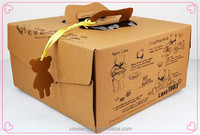 Eco kraft paper box with window,paper cake box with handle