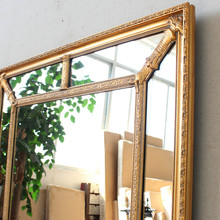 beveled Vintage decorative wall hanging mirror wooden frame