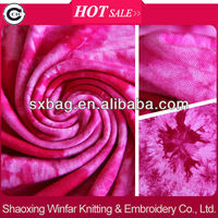 Shaoxing Rayon Spandex Tie dyed Jersey Fabric