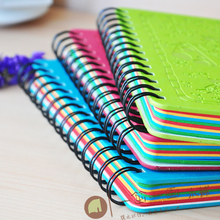logo customized good quality spiral bound loose leaf notebook wholesale