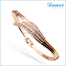Angel Wings Bracelet Gold Plated Bangle 2015 New Design Women Beautiful Fashion Bracelet