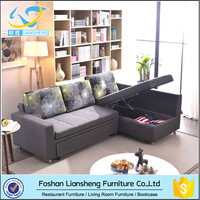 New Design l Shape Folding Sofa Cum Bed With Drawer for living room rare