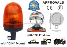 E-MARK Revolving Halogen Warning Light, ECE MARK Rotating Halogen Warning Beacon(SR-BL-501R-7)With Europe DIN Mount Pole Beacon