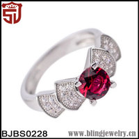 Wedding Jewelry with Ruby 925 Jewelry in Dubai Silver Ring