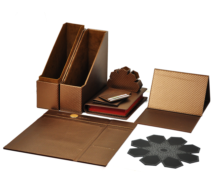 New products 2016 business PU leather luxury packaging gift box