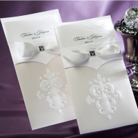 High end image of wedding invitation card
