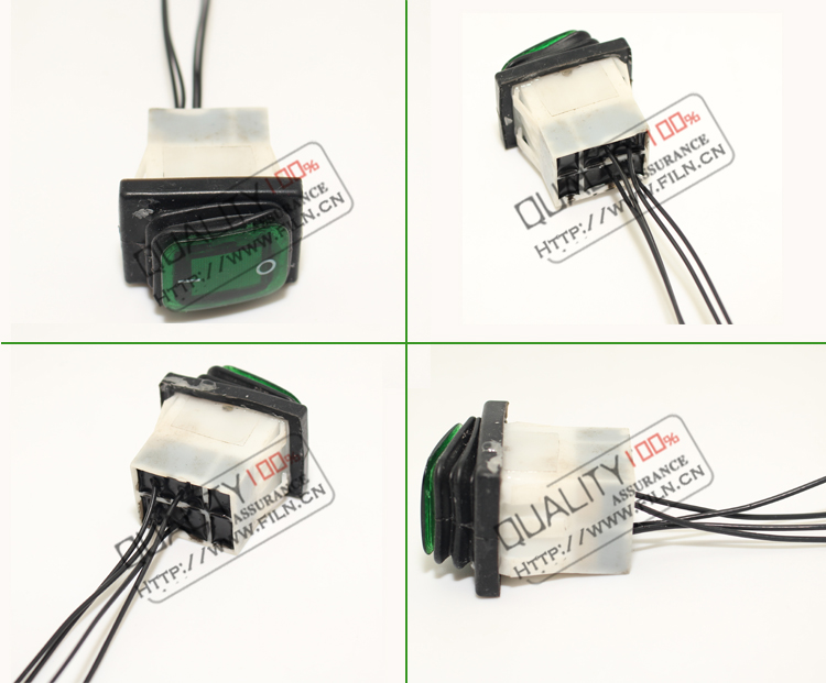 NEW 30A waterproof LED illuminated 12vdc rocker switch with wire leading IP68