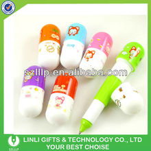 novelty smile face cheap Mini pill pen