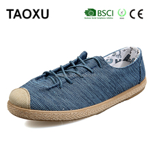 Cheap low price Latest Art Craft Dark Blue Low Cut Flat Canvas Shoes For Men