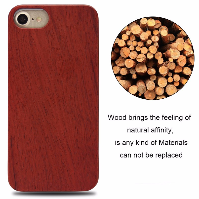 Wholesale cheap And Strong Quality Laser Engraving Blank Wood Phone Case For iPhone 7