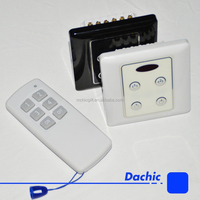 220V showroom four channels IR wireless remote control relay switch