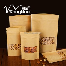Reusing food brown paper bag design with windows