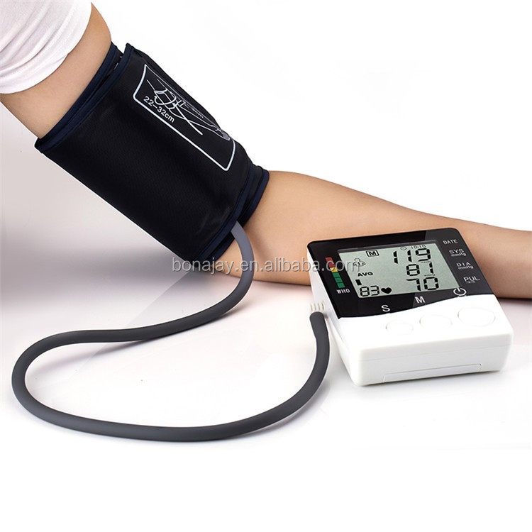 Wholesale -Smart household automatic Arm Blood Pressure Monitor Heart Beat Meter, with LCD Display