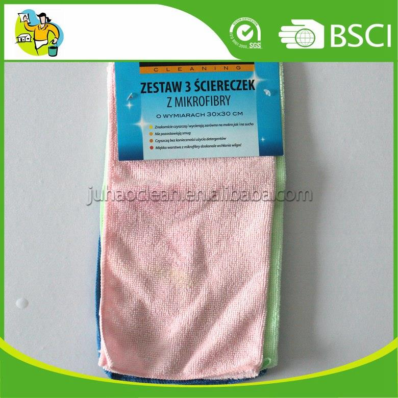 High Quality 80% Polyester 20% Polyamide Microfiber Household Cloth Microfiber Rag with Cheap Price