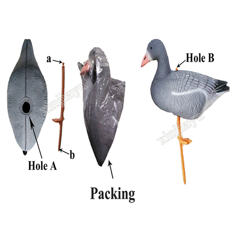 Promotional hunting bait goose decoys greylag goose snow goose specklebelly wild hunting soft geese decoy