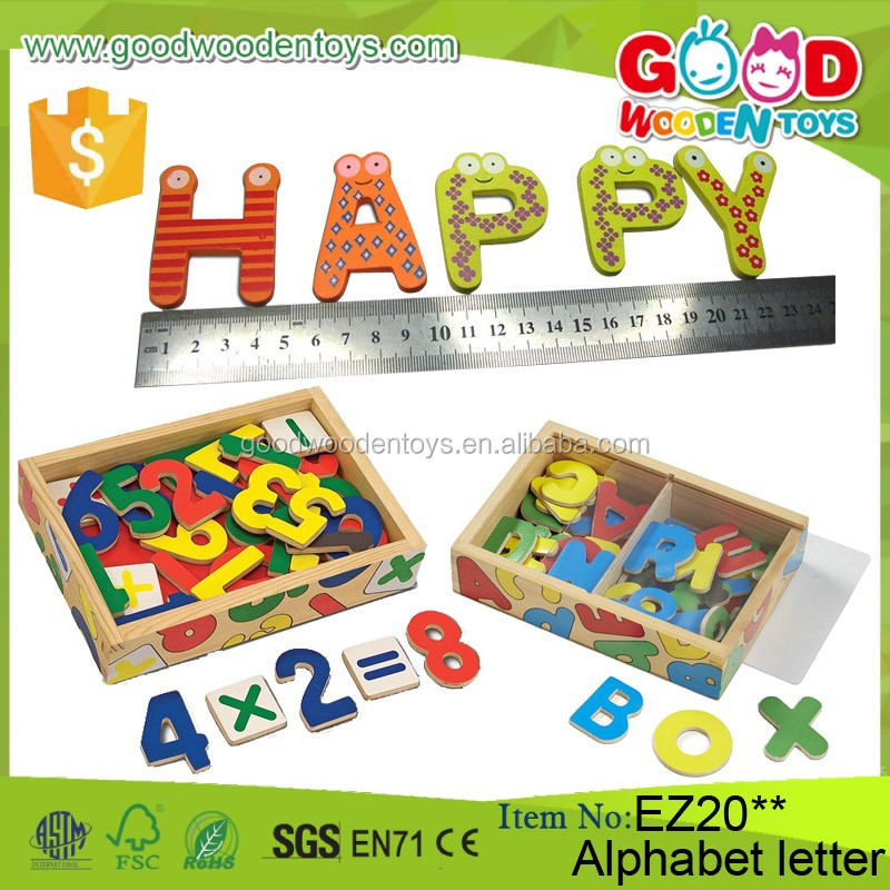 2017 hot sale children wooden alphabets toy kids for Magnetic letters for 1 year old