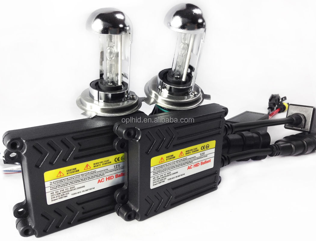 Chinese wholesale! AC 35W 12V bi xenon HID slim kit H4Hi/Lo 6000k top quality quality high replacement kit