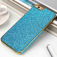 Luxury Bling Back For Iphone 6 Hard Pc Mobile Phone Cover Case with free screen protector