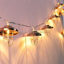 Unique LED Christmas Tree Light With Metal Lamps Festoon String Light For Christmas Light Home House Shop Gift Project