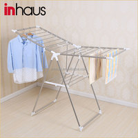 Multifunctional PP power coated steel folding portable stand clothes hanger rack