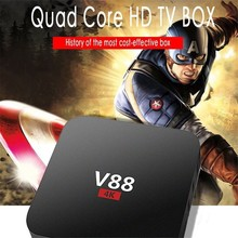 2017 cheapest V88 4K Android 5.1 Smart TV Box Rockchip RK3229 1G/8G WiFi Full Loaded Kodi 16.1