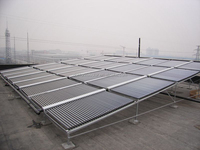 Central solar water heating system