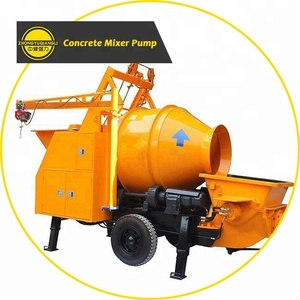 Mobile concrete drum mixer with pump for sale in australia
