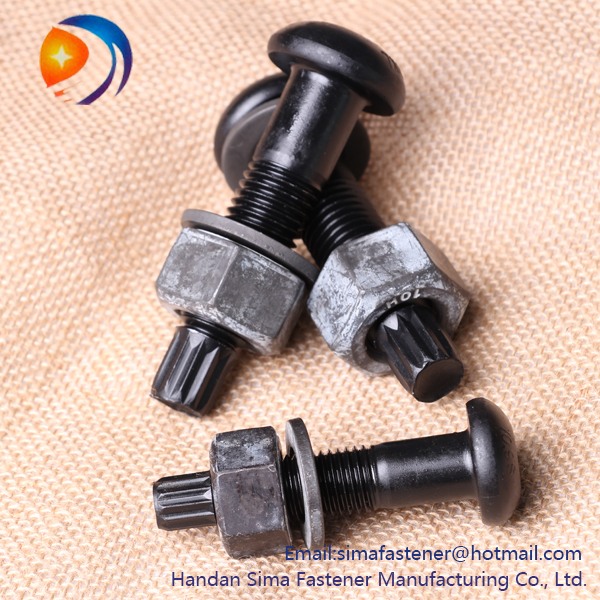 China High-strength M16 hexagon bolts and nuts