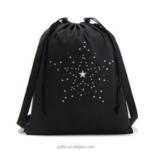 Black plain design travelling backpack, sport bag, beach bag