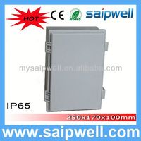 saip/saipwell IP65 electrical junction boxes plastic enclosure injection molded parts 250*170*100mm (Plastic Draw latches)