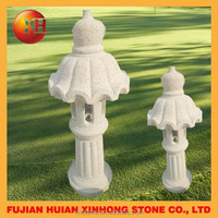 Natural style stone carving pagoda hand made garden furniture outdoor