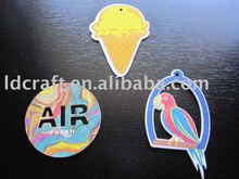 factory OEM high quality make hanging paper car air freshener