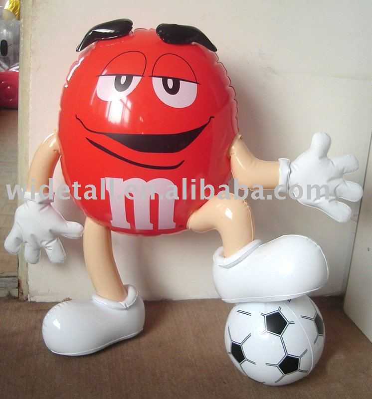 inflatable toy inflatable toy with football inflatable doll