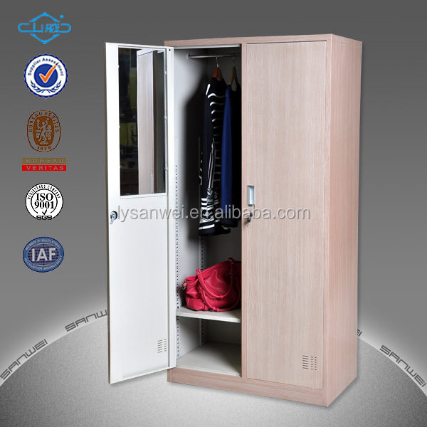 transfer white color metal wardrobe locker with digital code lock