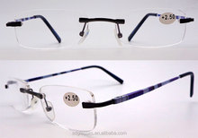 Latest style! Wholesale factory price $1 rimless italy design ce reading glasses