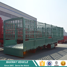 Top Quality 4 axle side wall fence cargo truck semi trailer for sale