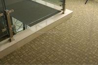 Polypropylene Modular carpet tiles, backing bitumen size 24