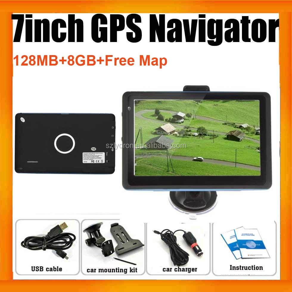 Hight quality 7inch Car Navigation GPS System With 8GB and 3D map for Car Truck or Van