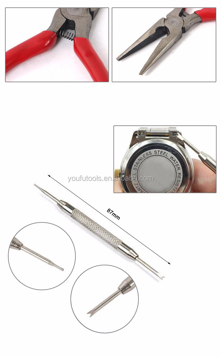 16 Pieces Watch Repair Kit Set Pin Strap Remover Opener Battery Change Tool