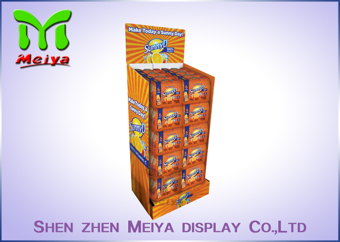 New design graphic model pallet paper flooring display shelf of Super-good Quality