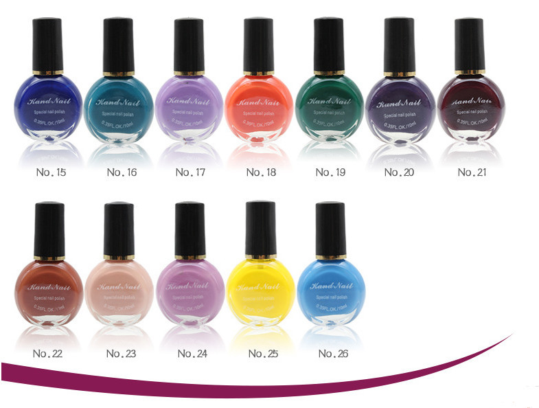 26 colors Special stamping nail polish/nail art paint oil