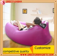Fast Inflatable Hangout Lounger Air Sofa beach outdoor Inflatable lazy sleeping bag sofa
