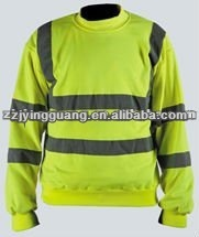 ANSI Class 2 Safety Sweat Shirts, Made of 100% Polyester fleece with High Visibility Reflective Tape