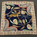 100%silk digital print square chinese silk scarf for women