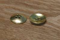 China Suppliers Decorative Gold Bead Metal Buttons for Jewelry Making