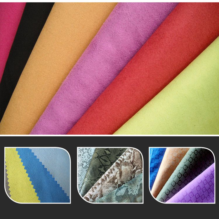 Useful artificial suede punching leather suede slotting leather for car seat cover