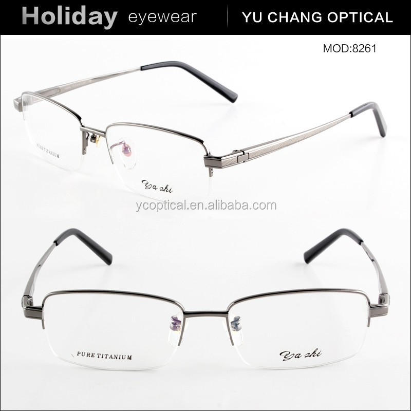 Latest trendy fashion disign optical titan spectacle frame for men
