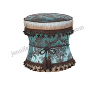 Wholesale Home Furniture Fancy Round Ottoman Stool Ottoman