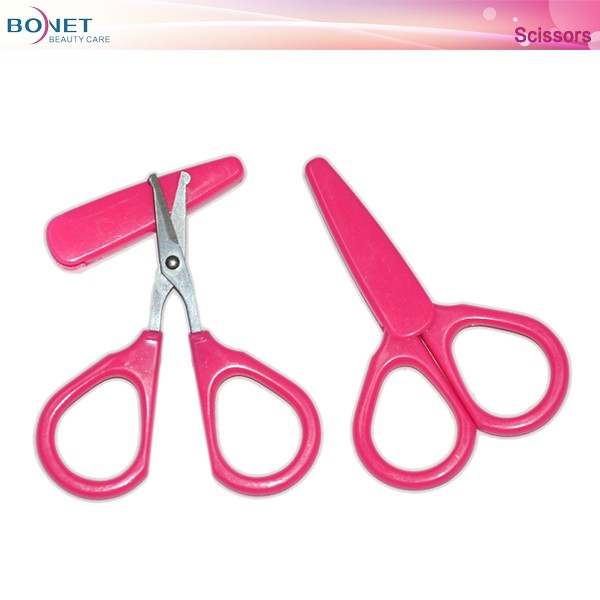 BSC0101 Plastic handle beauty manicure scissors
